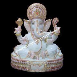Handmade Marble Ganesh Statue