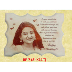Plain Stone Wooden Picture Frame, For Gift