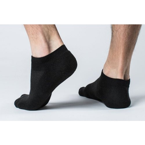 1127c4367 Cotton Plain Black Ankle Socks, Size: Free, Rs 15 /pair | ID ...