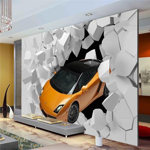 Paper With Plastic Coated Printed 3d Sports Car Wallpaper Rs 100 Square Feet Id 18628068562