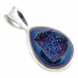 92.5 Druzy Pendants Jewelry
