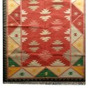 Woollen Kilim Flat Weave Durry Carpet  For Home