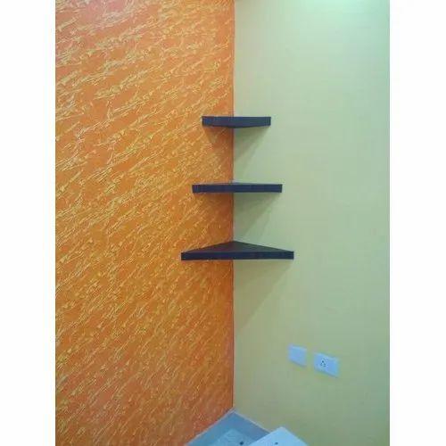 Triangle Wooden Corner Shelf For