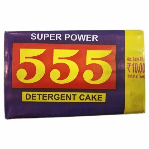 555 Super Power Detergent Cake, Packaging Size: 115 Gm, Shape: Rectangle