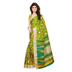 Designer Printed Silk Saree