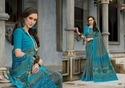 Blue Cotton Linen Sarees