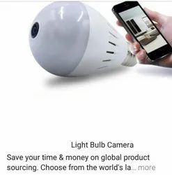 Plastic Day & Night Light Bulb Camera, For Security, Packaging Type: Box