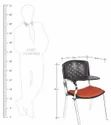 Fort Black Student Writing Chair