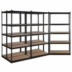 Paint Coated Mild Steel 4 Slotted Angle Racks for Office