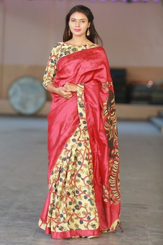 a071d80b94 Party Wear Embroidered Managalagiri Designer Saree, With Blouse Piece