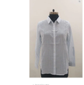 Branded Surplus Grey Striped Cotton Shirt