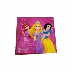 Pink Printed Ladies Cotton Handkerchief