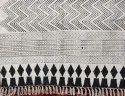 Mudcloth Printed Cotton Rug Handmade Cotton Durries Modern Design Carpets