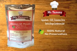 Mr.Yummy Chicken 65 Masala, Packaging Size: 100 g, Packaging Type: Pouch