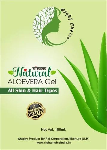 Right Choice Natural Aloevera Gel, Packaging Size: 100mL