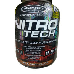 Muscle Tech Muscle Building 6 lbs Nitro Tech Whey Protein Isolate, Packaging Type: Plastic Container