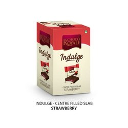 Choco Royal Cholate Indulge Centre Filled Strawberry Chocolate Slab