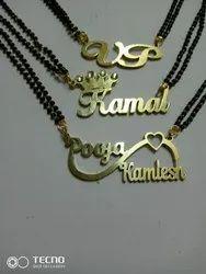 Brass Gold Sliver Custom Name Necklace