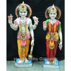 Standing Marble Vishnu Laxmi Idol
