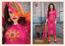 Designer Cotton Churidar Suit