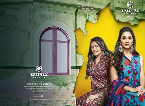 89accf5de2 Printed Regular Wear Deeptex Miss India Volume 39 Cotton Dress Material