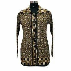 Full Sleeves Ladies Long Woolen Shirt