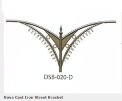 DSB-020-D Nova Cast Iron Street Bracket
