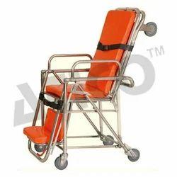 ATICO Orange Ambulance Stretcher Cum Wheelchair
