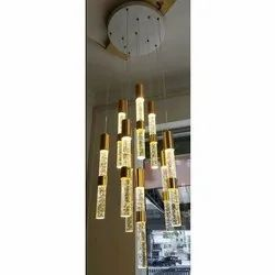Brass And Glass LED Decorative Hanging Lights, for Decoration, Packaging Type: Box