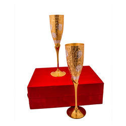 Gold Plated Glass Set