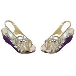 2f62189fab Golden Women Ladies Modern Wedge Sandals, Rs 285 /pair, Noor ...