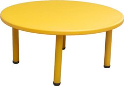 Yellow Plastic Round Kids Table