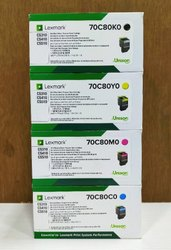 Lexmark 70C80K0/C0/M0/Y0 Toner Cartridge ( C/M/Y/K)