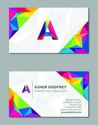 Multi Color Visiting Card