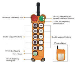 Dual Step Push Button Telecrane Radio Remote Control