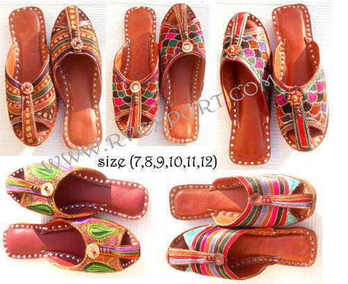 8d64d995cedc Leather Women Traditional Indian Wedding Jaipuri Shoes