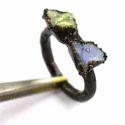 Rough Stone Fire Opal Gemstone Rings