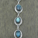 925 Sterling Silver Labradorite Gemstone Bracelet