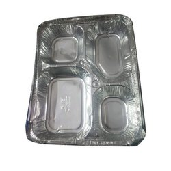 Paramount Silver 4 Compartment Aluminium Foil Plate