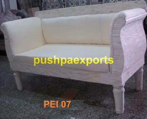 Pushpa Exports Bone Inlay Sofa, Packaging Type: Wooden Crate