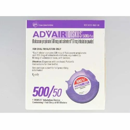 Advair Diskus Injection 1 Foil Strip Of 60 Blisters Treatment For Oral Inhalation Only Rs 500 Pack Id 21558393955