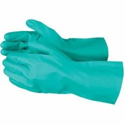 Green Nitrile Hand Gloves, For Hospitals