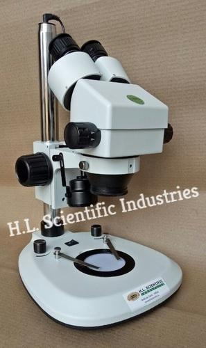 Physilab White Binocular Stereo Zoom Microscope, LED