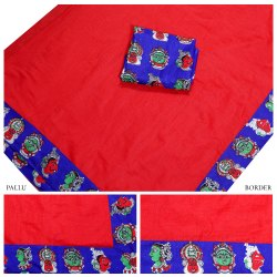 Designer Chanderi Cotton Saree With Blouse
