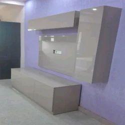 High Gloss Laminate Wooden TV Cabinet, Warranty: 1 Year