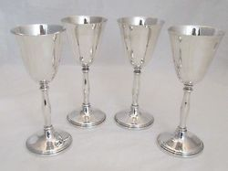 41b22199e23d Metal 4 Set Silver Plated Glasses