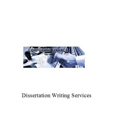 Finance Dissertation Writing Services