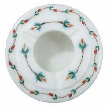 Vintage White Marble Alabaster Astray