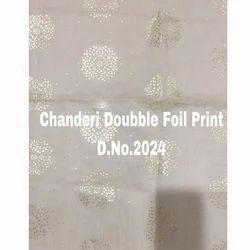 Foil Print Chanderi Fabric