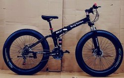 Being Human Black Fat Tyre Foldable Cycle